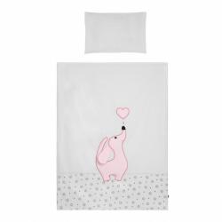 2-dielne posteľné obliečky Belisima Lovely Puppy 90/120 ružové