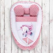 Hniezdočko s perinkou pre bábätko Minky Belisima Unicorn