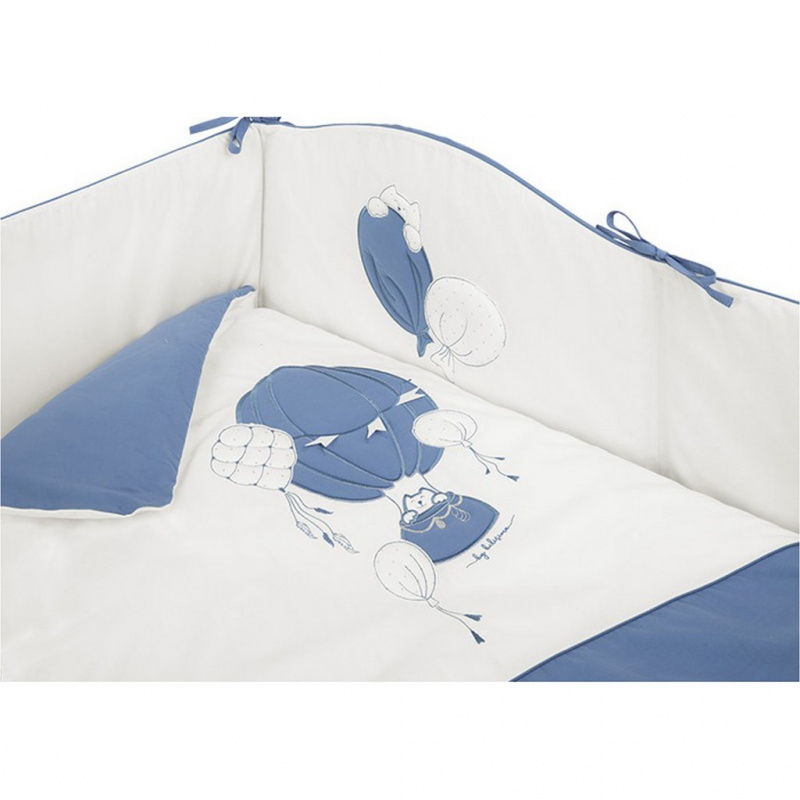 3-dílné ložní povlečení Belisima Ballons 90/120 modré