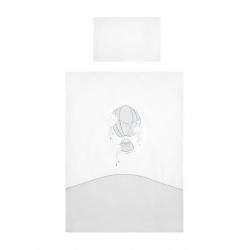 3-dílné ložní povlečení Belisima Ballons 90/120 šedé