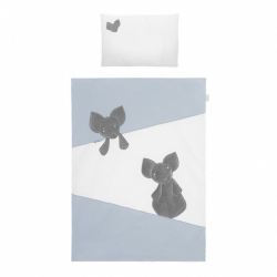 2-dielne posteľné obliečky Belisima Mouse 100/135 modré