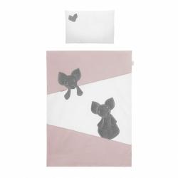 2-dílné ložní povlečení Belisima Mouse 100/135 růžové