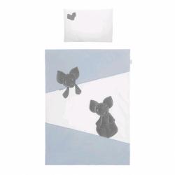 2-dílné ložní povlečení Belisima Mouse 90/120 modré