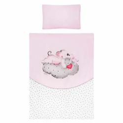 6-dielne posteľné obliečky Belisima LOVE 90/120 ružové