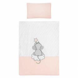 3-dielne posteľné obliečky Belisima Cute Mouse 100/135 ružové