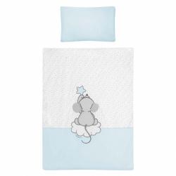 5-dielne posteľné obliečky Belisima Cute Mouse 90/120 tyrkysové