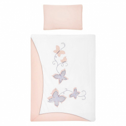 2-dielne posteľné obliečky Belisima Butterfly 90/120 ružové