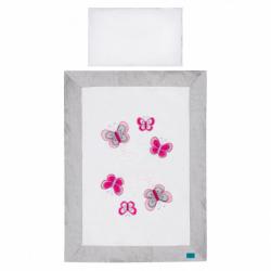 2-dielne posteľné obliečky Belisima Motýlik 90/120 šede