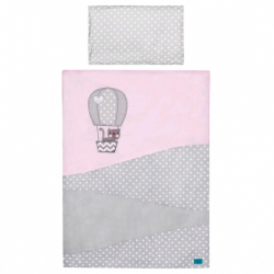 3-dielne posteľné obliečky Belisima Balón 100/135 ružové