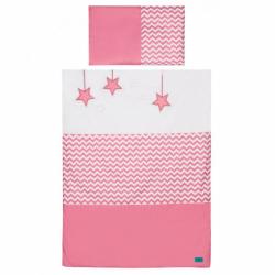2-dielne posteľné obliečky Belisima Hviezdička 100/135 ružové