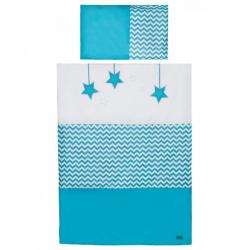 2-dielne posteľné obliečky Belisima Hviezdička 100/135 tyrkysové