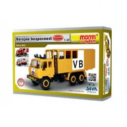 Stavebnica Monti 12.1 Tatra 815 VB Verejná bezpečnosť 1:48 v krabici 22x15x6cm