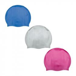 Čepice na plavání (modrá/bílá/růžová)