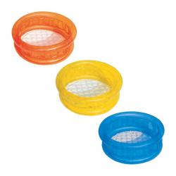Nafukovací bazénik - mix (modrý, žltý, oranžový), 64x25cm