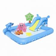 Nafukovací bazének se skluzavkou a mnoha doplňky 239x206x86 cm