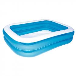 Modrý štvorhranný rodinný bazén 201 x 150 x 51cm