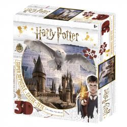 Puzzle 3D 300 dílků Harry Potter - Bradavice a Hedwig