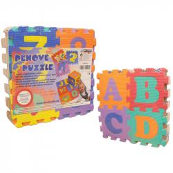 Penové puzzle 15x15 36 ks (písmená + čísla)