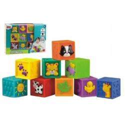 Kocky 9ks mäkké gumové 5x5x5cm v krabici 6m +