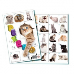Pexeso Mačky spoločenská hra 32 obrázkových dvojíc