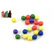 Kuličky cvrnkací nerozbitné 20ks 1,5 cm asst 3 barvy v látkovém pytlíčku