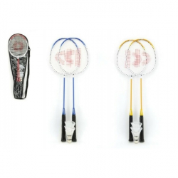 Badminton sada + 3 košíčky Donnay kov 66cm asst 3 farby v taške