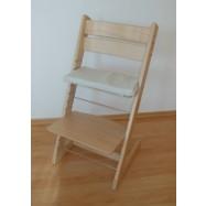 Detská rastúca stolička JITRO KLASIK prírodná bez laku