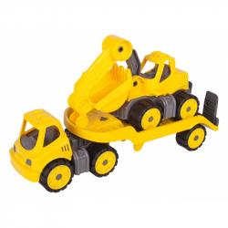 BIG Power Worker Mini Transportér s bagrem 41 cm