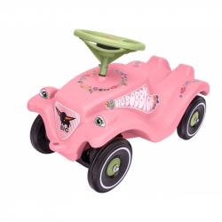 Auto odrážadlo BIG BOBBY CAR CLASSIC ružové s kvetinkami