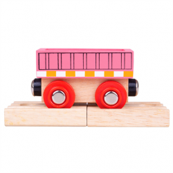 Bigjigs Rail Vagón růžový