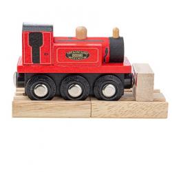 Bigjigs Rail Drevený vláčik Teriér červený