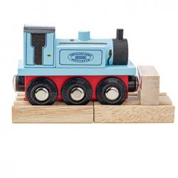 Bigjigs Rail Drewniany pociąg Terrier niebieski