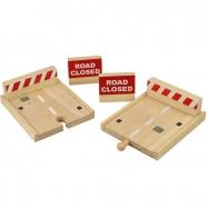 Bigjigs Rail drevené autodráhy - Slepá drevená cesta 4ks