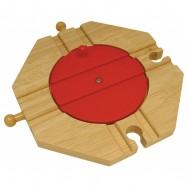 Dřevěné vláčkodráhy Bigjigs - Točna se 4 výjezdy