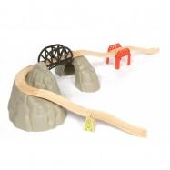 Bigjigs Rail dřevěná vláčkodráha - Set vysokohorská dráha