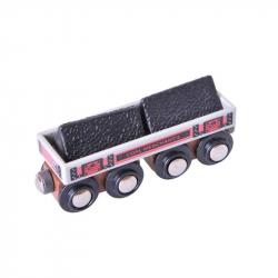Duży wagon z węglemImponujący wagon z węglem z wyjmowanym ładunkiem. Po wyjęciu ładunku wagon można