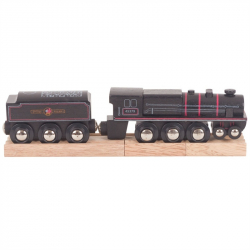 Bigjigs Rail dřevěná replika lokomotivy - Black 5 engine