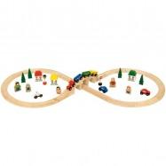 Bigjigs Rail dřevěná vláčkodráha - Osmička
