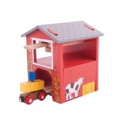 Bigjigs Rail dřevěná vláčkodráha - Seník