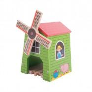Bigjigs dřevěná vláčkodráha - Větrný mlýn