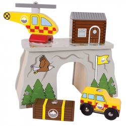 Bigjigs Rail dřevěná vláčkodráha - Tunel horská služba