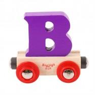 Bigjigs Rail vagónek dřevěné vláčkodráhy - Písmeno B