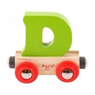Bigjigs Rail vagónek dřevěné vláčkodráhy - Písmeno D