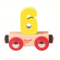 BigjigsRail Wagonik cyferka 6