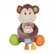 Bigjigs Toys textilní postavička - Opička Cheeky