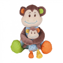 Bigjigs Toys textilná postavička - Opička Cheeky