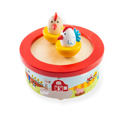 Bigjigs Toys Drevená hracia skrinka farma
