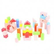 Bigjigs Toys farebné kocky vo vedierku 50 ks