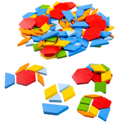 Bigjigs Toys Drevená farebná mozaika