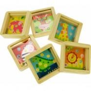 Bigjigs Toys dřevěný mini kuličkový labyrint se zvířátky
